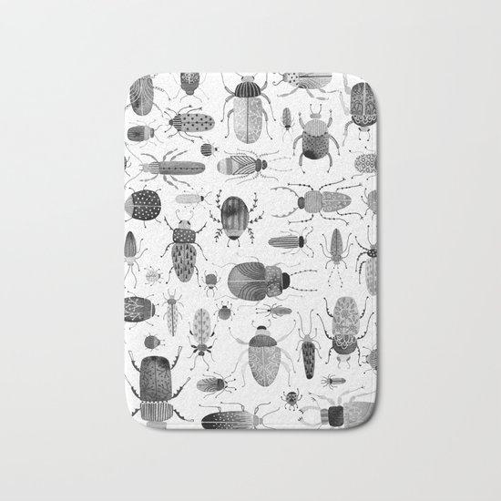 Ink Beetles Bath Mat