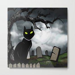 Hallows Halloween Horror Folk Art Metal Print