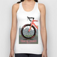 tour de france Tank Tops featuring Tour De France Bike by Wyatt Design