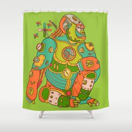 Gorilla, cool wall art for kids and adults alike Shower Curtain
