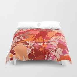 Painting Color splashes Duvet Cover