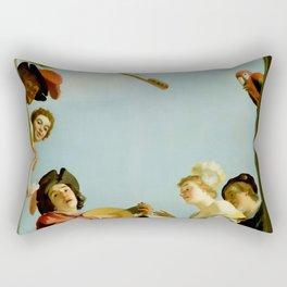 "Gerrit van Honthorst ""Musical Group on a Balcony"" Rectangular Pillow"