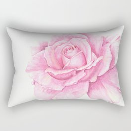 Deep Pink Rose with a touch of yellow Rectangular Pillow