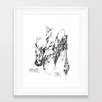 robert farkas Framed Art Prints featuring robert by Valeria Pomidoro