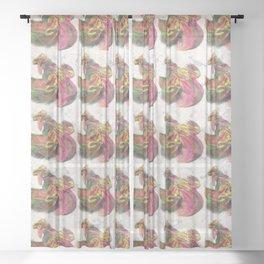 Sun cock-dervish Sheer Curtain