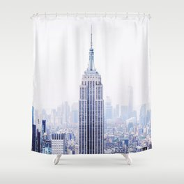 New York City - Manhattan Cityscape - Empire State Building Photograph Shower Curtain