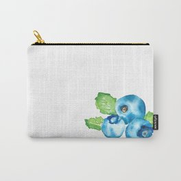 Watercolour Blueberry Carry-All Pouch