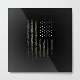 American flag khaki Metal Print