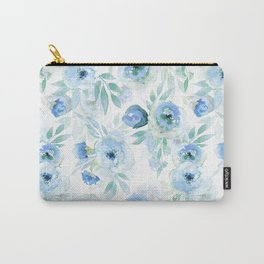 Blue Florals Carry-All Pouch