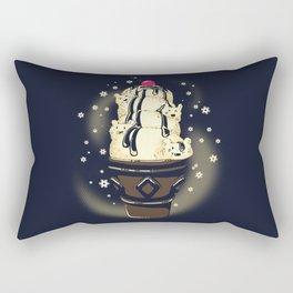 Ice Cream Bears (Dark Blue) Rectangular Pillow