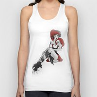 ruby Tank Tops featuring Ruby by Ivriniel Arts