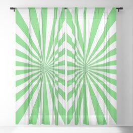 Starburst (Green & White Pattern) Sheer Curtain