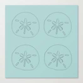Sand Dollar Blessings Large Pattern - Pointilist Art Canvas Print