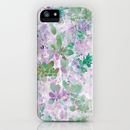 Watercolor Leaves - Seamless IA iPhone Case