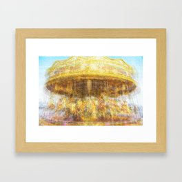 On The Merry Go Round Too Framed Art Print