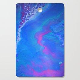 Fantasy II - Bright Sapphire Blue Ultra Violet Purple Fluid Abstract Cutting Board
