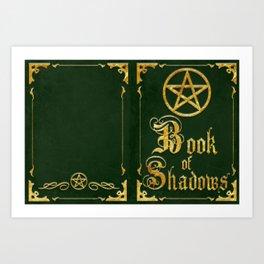 Green Book of Shadows Art Print