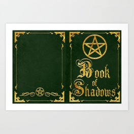 Green Book of Shadows Art Print