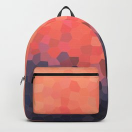 Geometric Abstract Mountain Sunset Backpack