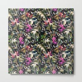 The leaves in the florid jungle Metal Print