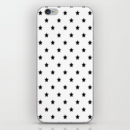 Black and white Star Pattern iPhone Skin