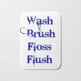 Wash, Brush, Floss, Flush Bath Mat