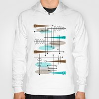 mid century Hoodies featuring Mid-Century Modern Atomic Inspired by Kippygirl