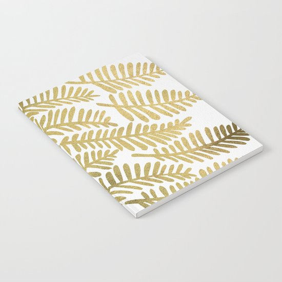 Gold Fronds Notebook