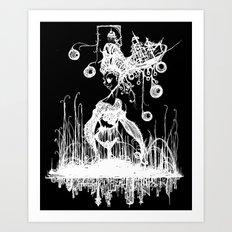 Swamp Lady Inverted Art Print