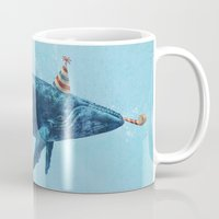 party Mugs featuring Party Whale  by Terry Fan
