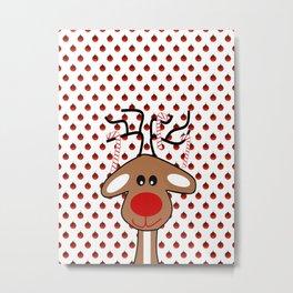 Reindeer Christmas Metal Print