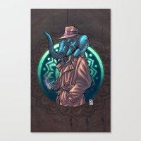 ganesh Canvas Prints featuring Ganesh by Renato Guerra
