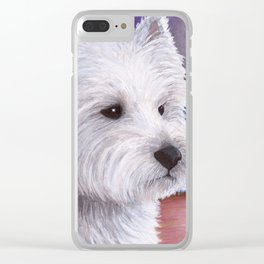 Dog 81 White Westie Dog Clear iPhone Case