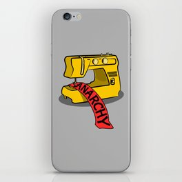 Anarchy Sewing Machine iPhone Skin