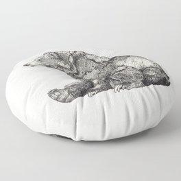 Bear // Graphite Floor Pillow