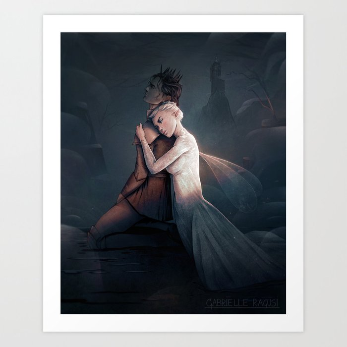 Ash and Fay Art Print