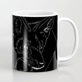 Fox Twins (black) Coffee Mug