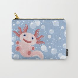 Cute Axolotl and The Bubbles Carry-All Pouch
