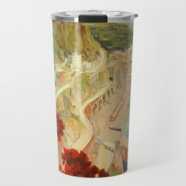 Vintage Travel Ad Amalfi Italy Travel Mug