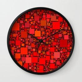 Post It Red Wall Clock