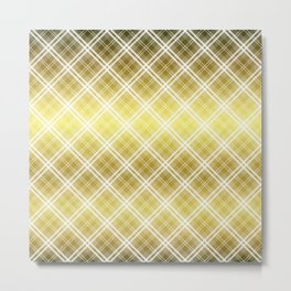 Royal Gold Tartan Plaid Check Metal Print