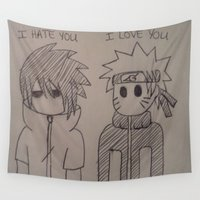 naruto Wall Tapestries featuring Naruto Anime by TayRavenna