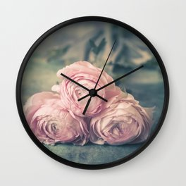 Lovely Ranunculus Wall Clock
