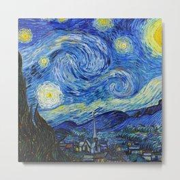 Van Gogh - Starry Night - High resolution Metal Print