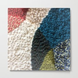 A Color Story Rug Hooked Art Metal Print