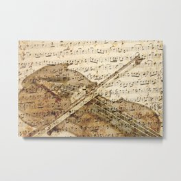 Violin musical note background Metal Print