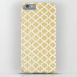 Gold Glitter Quatrefoil iPhone Case