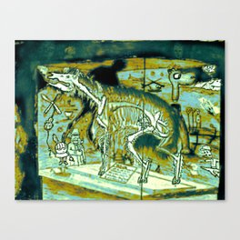 Interior Skeleton Canvas Print
