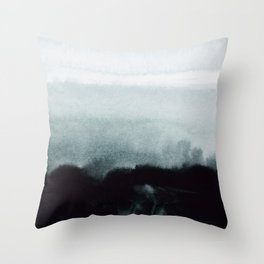 blurred landscape Throw Pillow