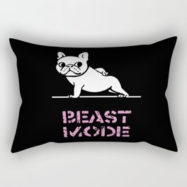 Beast Mode Frenchie Rectangular Pillow